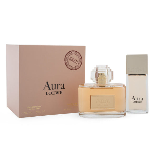Set  Aura Loewe 2 Pzs 120 ml EDP Spray/ 30 ml EDP