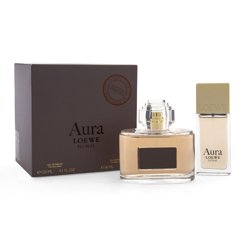 Set  Aura Loewe Floral 2 Pzs 120 ml EDP Spray/ 30ml EDP