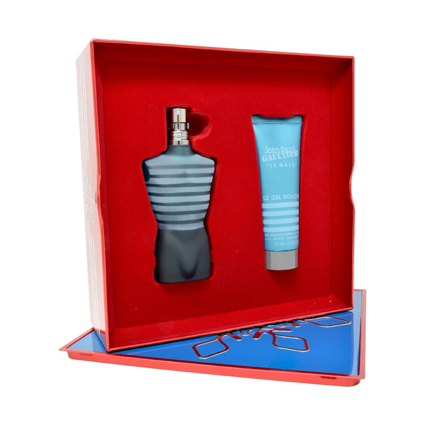 Set  Jean Paul Gaultier Le Male 2Pzs 75ml EDT Spray/ Shower Gel 75ml