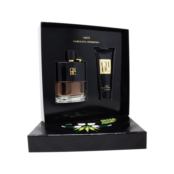 Set Carolina Herrera para Hombre 2 Piezas: CH Prive Men 100ml EDT Spray y After Shave 100ml con Envío Gratis