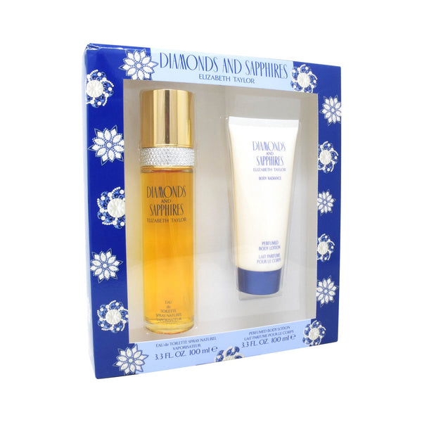 Set Elizabeth Taylor Diamonds And Sapphires 2Pzs 100ml EDT Spray/ Body Lotion 100ml