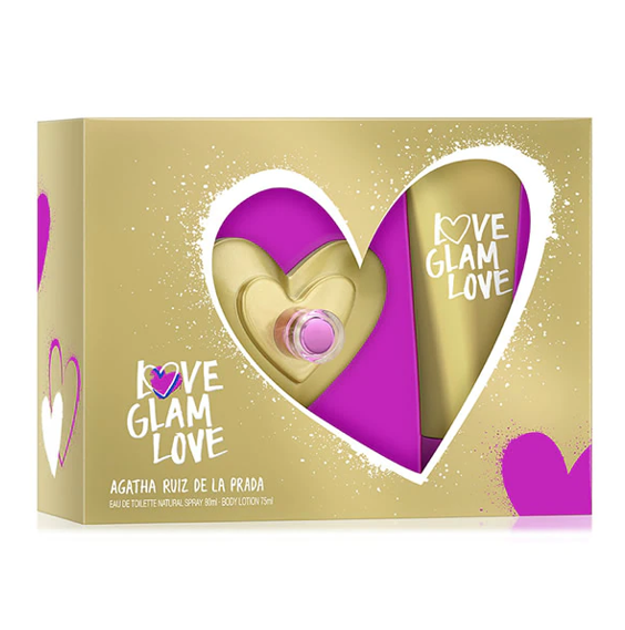 Agatha Ruiz de la Prada Set Dama Love Glam Love Fragancia 80 ml / Body Lotion 75 ml Envío Gratis a Todo México