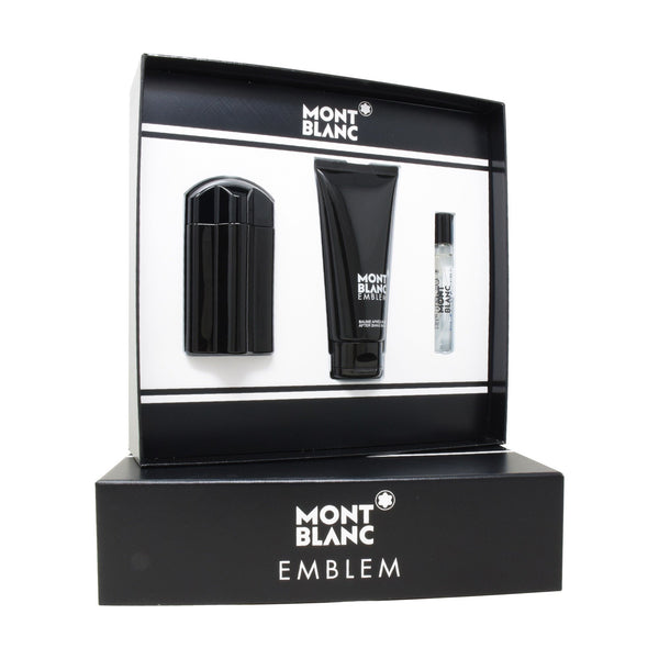 Set  Mont Blanc Emblem 100ml EDT Spray/ After Shave 100ml/ 7.5ml EDT Spray