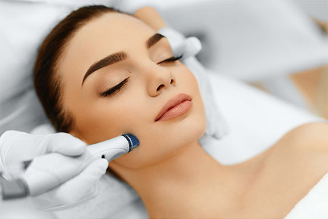 Collagen booster treatment on model