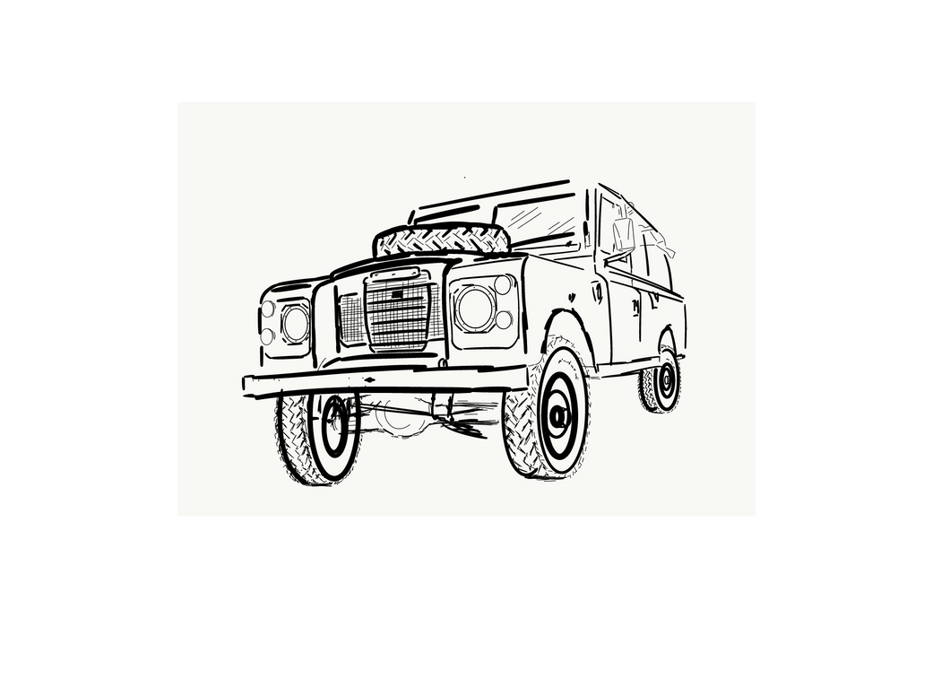 Land Rover SIII - Outline print - Side