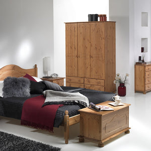 Copenhagen 3 Door 4 Drawer Wardrobe in Pine