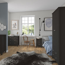 Load image into Gallery viewer, Florence 3 drawer bedside in Black
