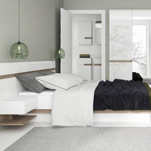 Load image into Gallery viewer, Chelsea Bedroom 3 door Robe with Mirror in white with an Truffle Oak Trim