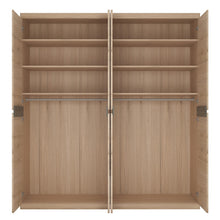 Load image into Gallery viewer, Kensington 4 Door Wardrobe with 2 Mirror doors in Oak