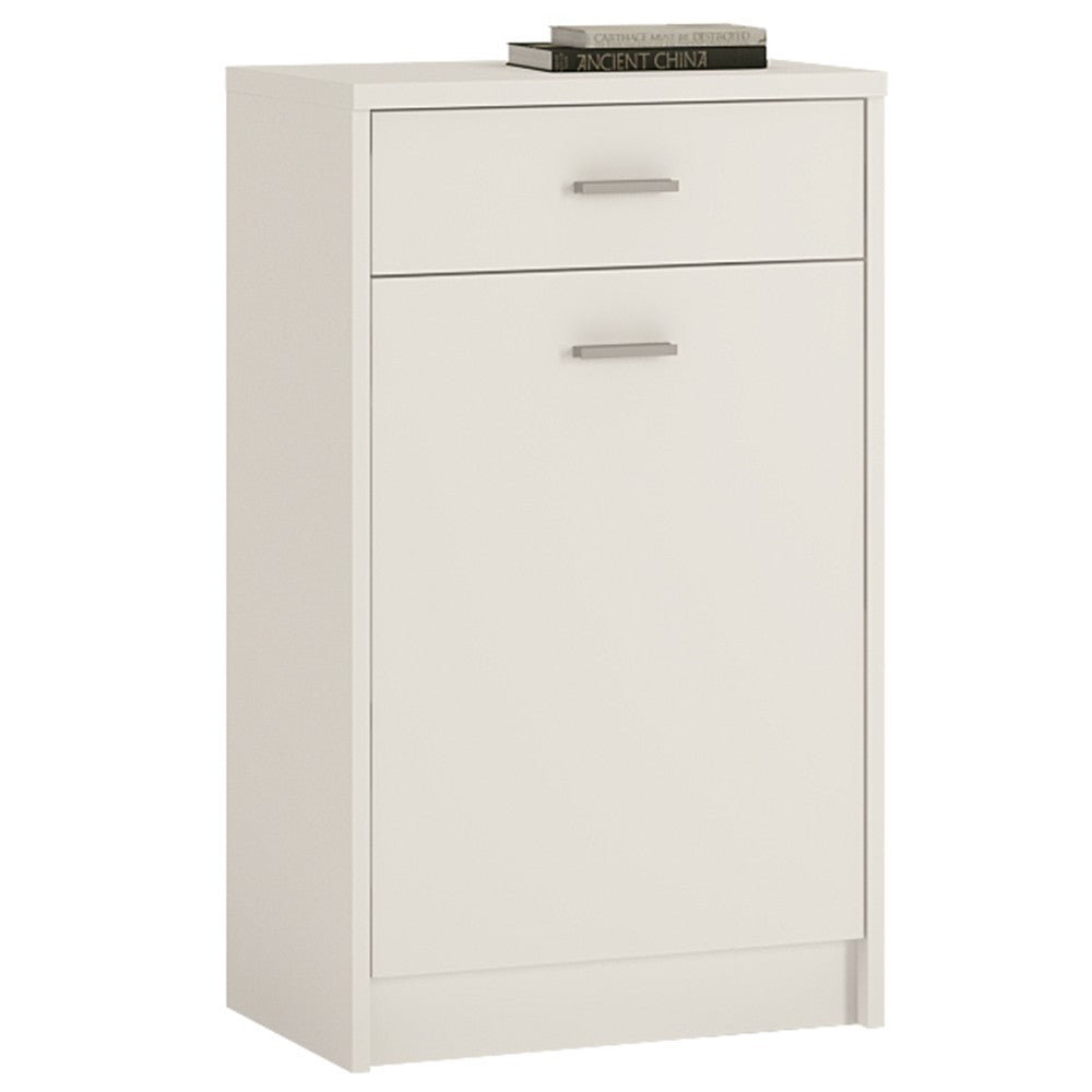 4 You 1 Drawer 1 Door Cupboard in Pearl White