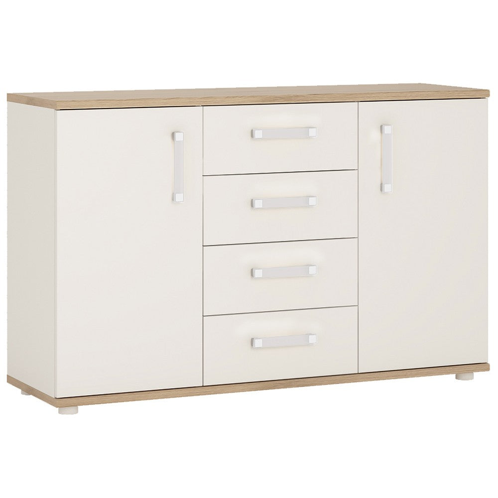 4KIDS 2 door 4 drawer sideboard with opalino handles