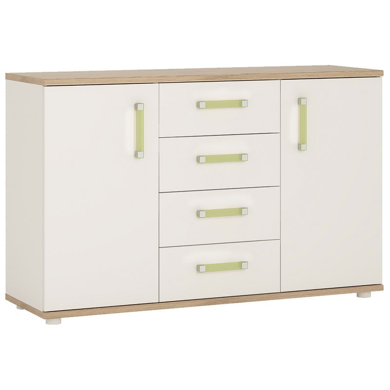4KIDS 2 door 4 drawer sideboard with lemon handles