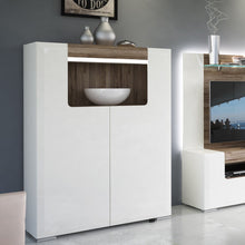 Load image into Gallery viewer, Toronto Low 2 Door cabinet with open shelf (inc. Plexi Lighting)