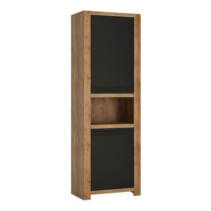 Havana 2 door tall cupboard with open shelf