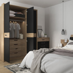 Monaco 2 door 5 drawer wide cupboard