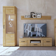 Load image into Gallery viewer, Cortina Tall glazed display cabinet (RH) in Grandson Oak