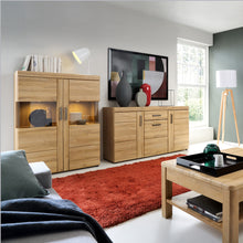 Load image into Gallery viewer, Cortina 3 door glazed sideboard in Grandson Oak
