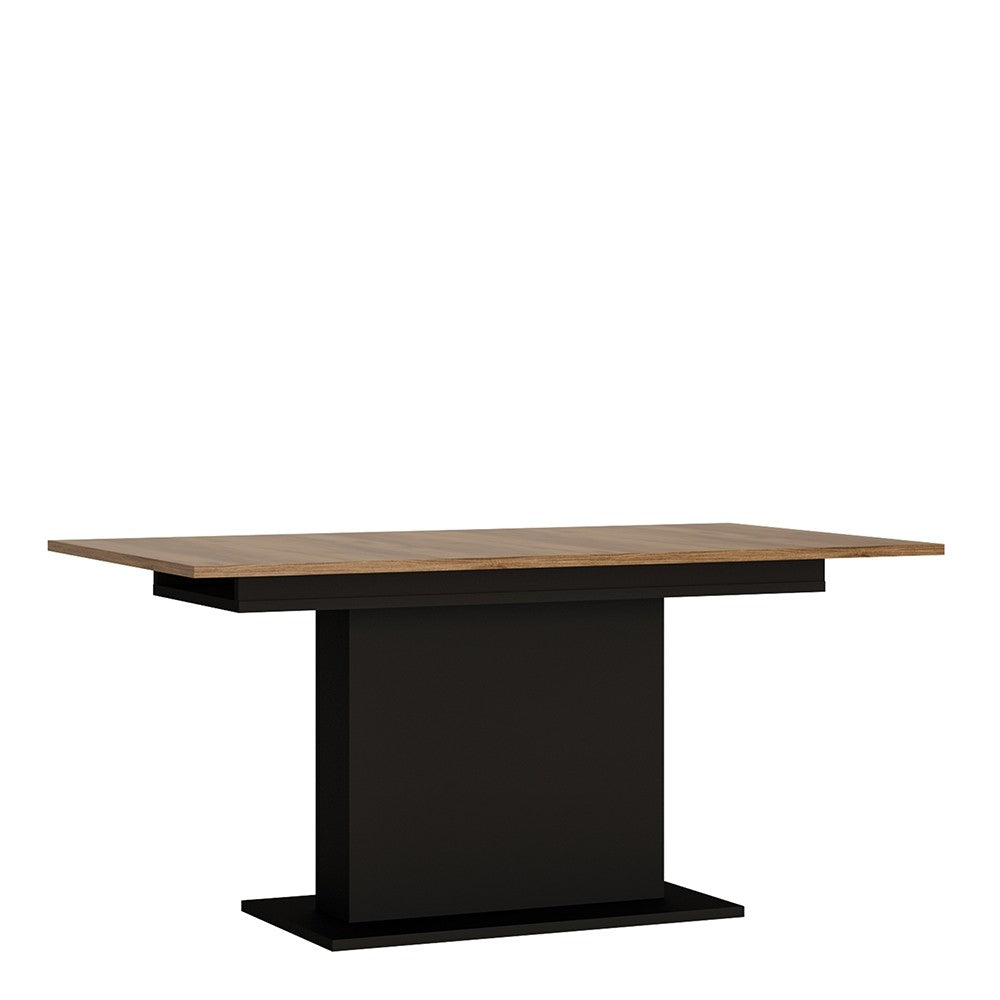 Brolo Extending Dining Table With the walnut and dark panel finish