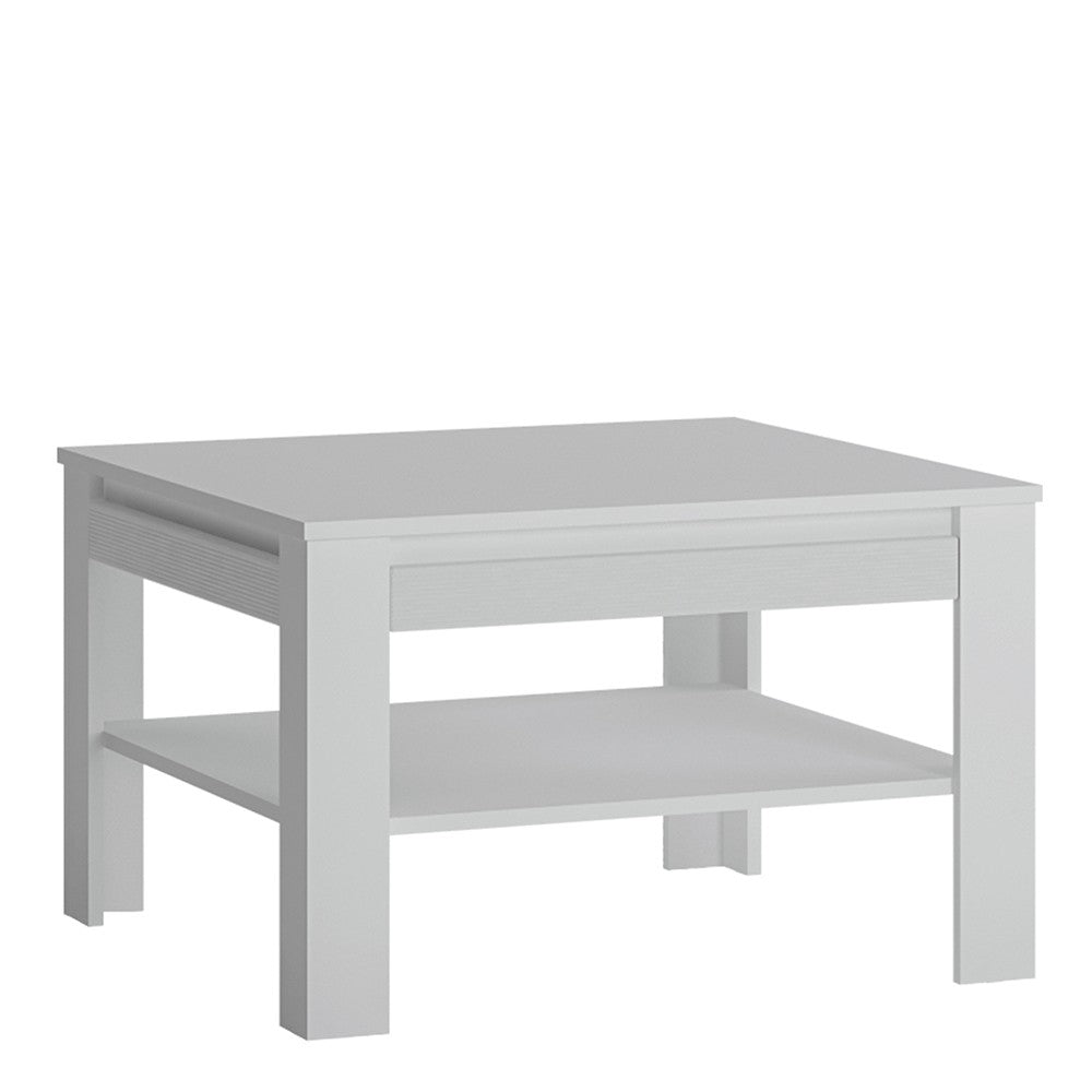 Novi Coffee Table with shelf in Alpine White