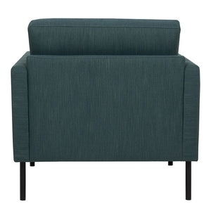 Larvik Armchair - Dark Green, Black Legs