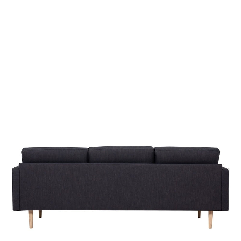 Larvik 3 Seater Sofa - Antracit, Oak Legs