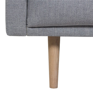Larvik 3 Seater Sofa - Grey, Oak Legs