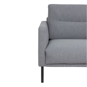 Larvik Chaiselongue Sofa (RH) - Grey, Black Legs