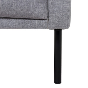 Larvik Chaiselongue Sofa (LH) - Grey , Black Legs