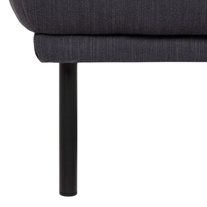 Larvik Footstool - Antracit, Black Legs