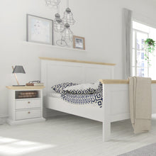 Load image into Gallery viewer, Paris Bedside 2 Drawers in White and Oak