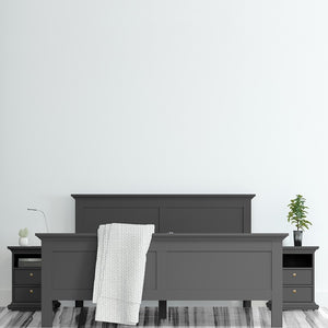 Paris Bedside 2 Drawers in Matt Grey