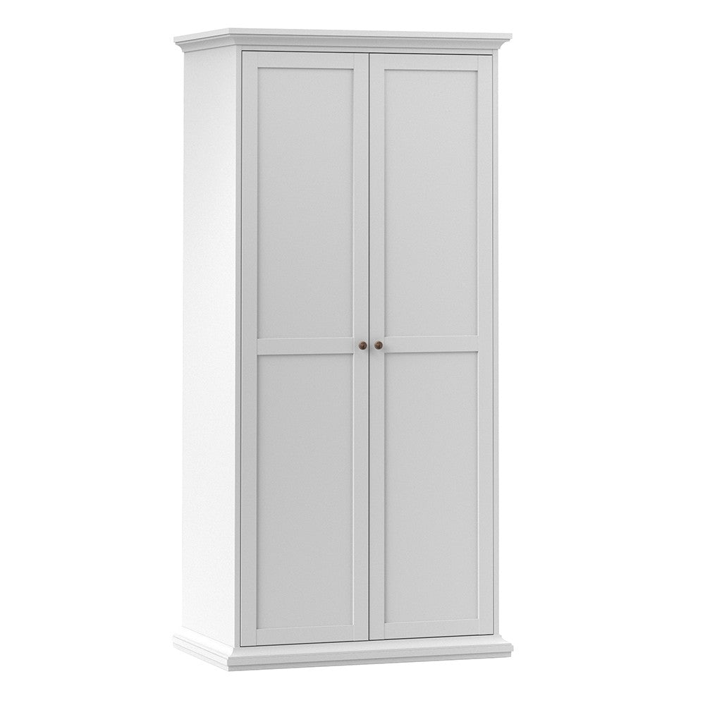 Paris Wardrobe with 2 Doors in White