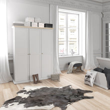 Load image into Gallery viewer, Paris Wardrobe with 3 Doors in White and Oak