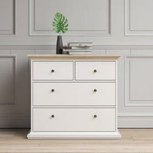 Load image into Gallery viewer, Paris Chest of 4 Drawers in White and Oak