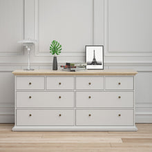 Load image into Gallery viewer, Paris Chest of 8 Drawers in White and Oak