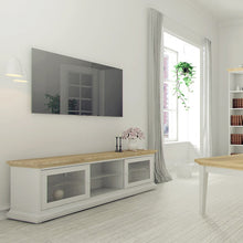 Load image into Gallery viewer, Paris TV Unit - Wide - 2 Doors 1 Shelf in White and Oak