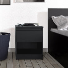 Load image into Gallery viewer, Naia Bedside - 1 Drawer 1 Shelf in Black Matt