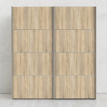 Load image into Gallery viewer, Verona Sliding Wardrobe 180cm in Oak with Oak Doors with 2 Shelves