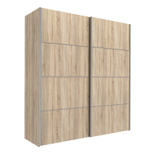 Load image into Gallery viewer, Verona Sliding Wardrobe 180cm in Oak with Oak Doors with 5 Shelves