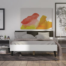 Load image into Gallery viewer, Oslo Euro Double Bed (140 x 200) in White and Black Matt