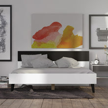 Load image into Gallery viewer, Oslo Euro King Bed (160 x 200) in White and Black Matt
