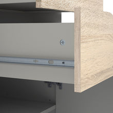 Load image into Gallery viewer, Oslo TV Unit 2 Drawers in White and Oak