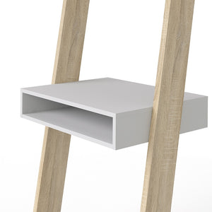 Oslo Leaning Desk in White and Oak
