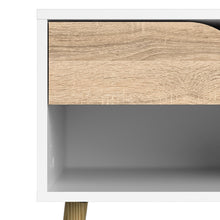 Load image into Gallery viewer, Oslo Bedside 1 Drawer in White and Oak