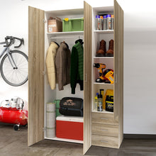 Load image into Gallery viewer, Space Wardrobe - 3 Doors 3 Drawers in Oak