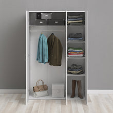 Load image into Gallery viewer, Space Wardrobe with 3 doors White