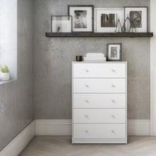 Load image into Gallery viewer, May Chest of 5 Drawers in White