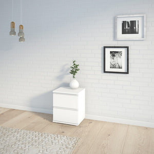 Nova Bedside 2 Drawer in White