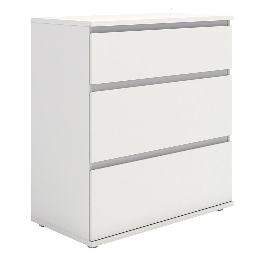Nova Chest of 3 Drawers in White