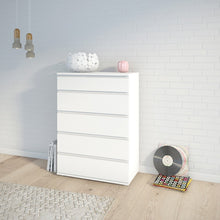 Load image into Gallery viewer, Nova Chest of 5 Drawers in White